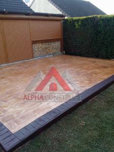 beton estampe imitation bois