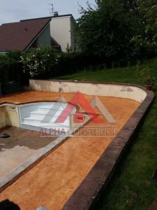 piscine avec beton imprime
