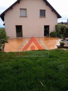 terrasse en beton estampe