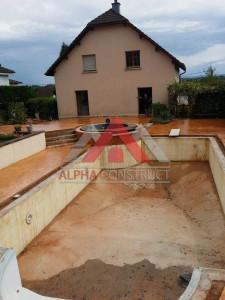 cour en beton estampe