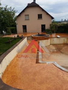 terrasse en beton imprime