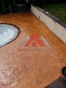 autour piscine beton imprime