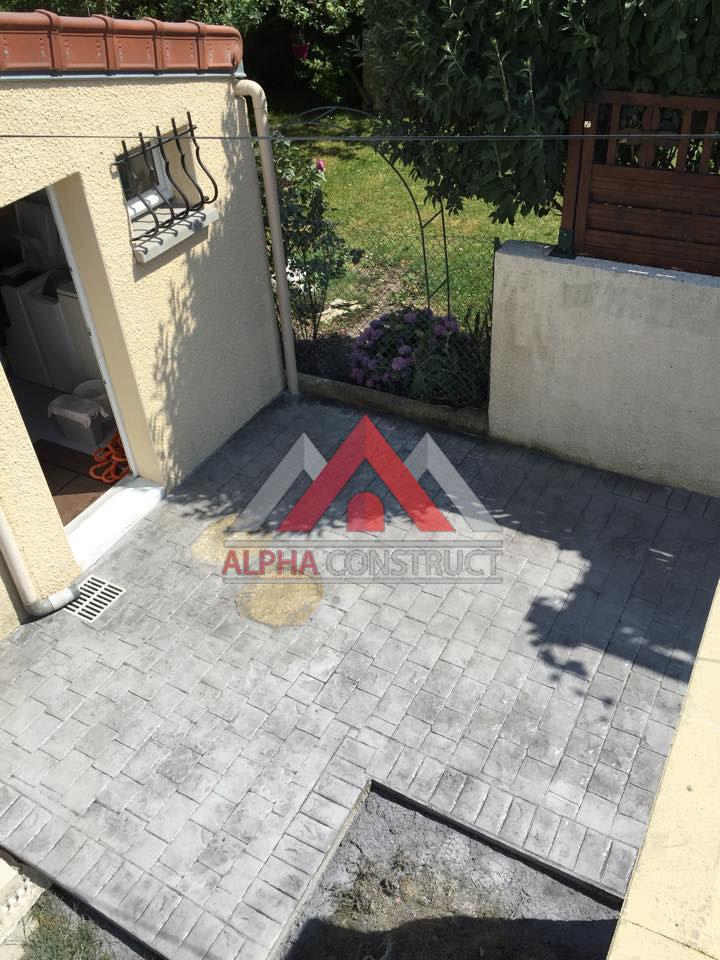 Préféré Le béton imprimé dans France - sol decoratif beton pour exterieur SI02