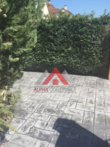 béton imprimé terrasse