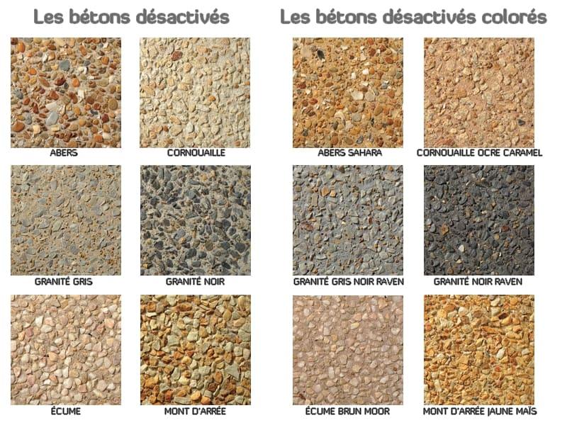 Nuancier couleurs Béton désactivé