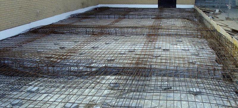 ferraillage terrasse et fondation