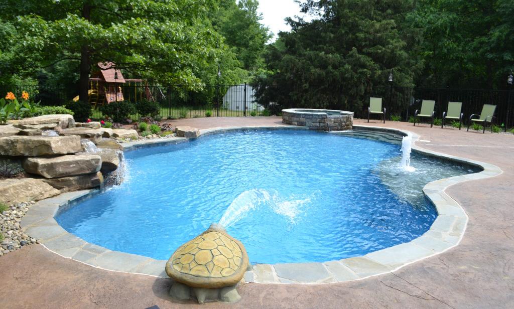Dalle béton imprime pour piscine