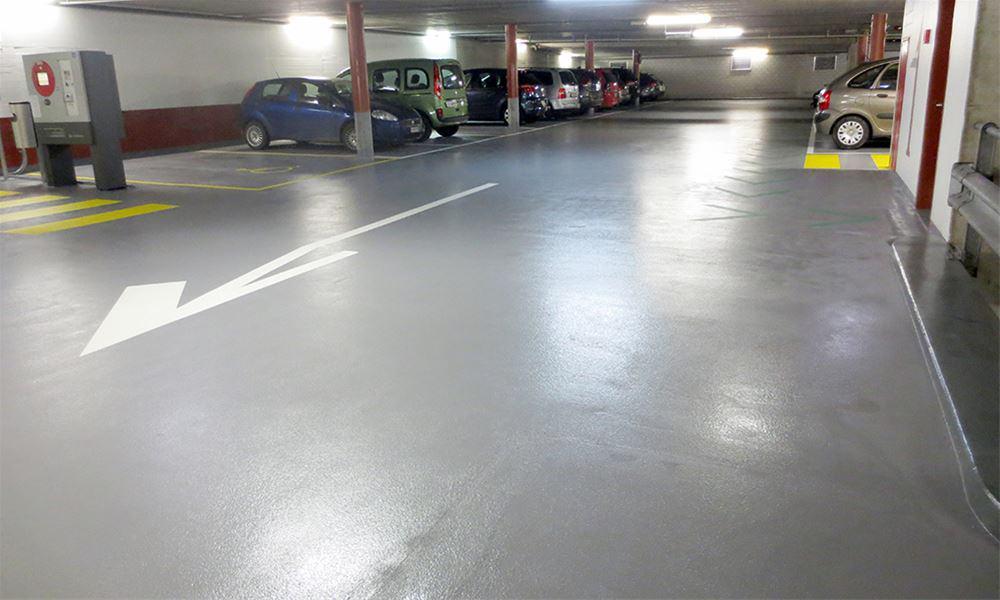 revêtement de sol pour un parking